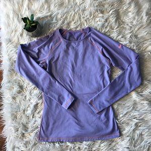 NIKE pro lavender coral long sleeve medium